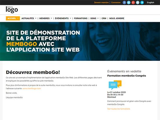 Favori Templates de site Web gratuits pour OBNL - memboGo GQ75