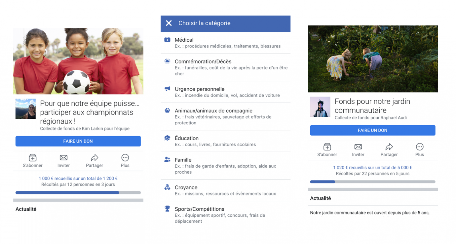collecte dons facebook france